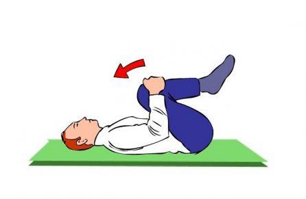 Image démontrant l'étirement de la musculature lombaire