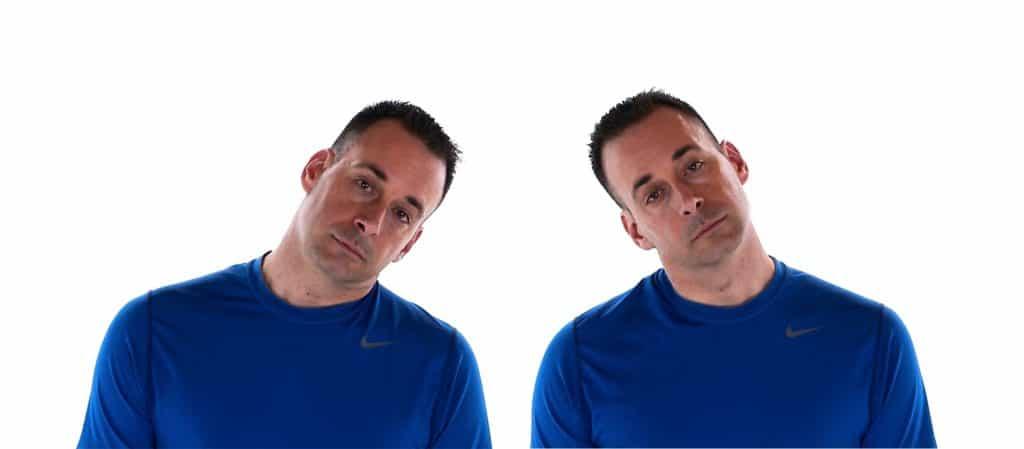image de mobilité du cou en latéroflexion