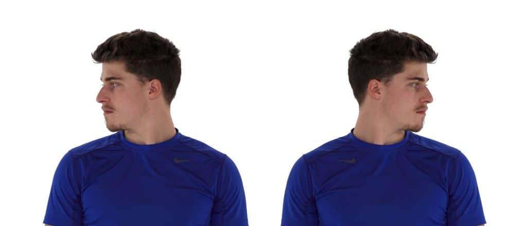 image exercice rotation du cou